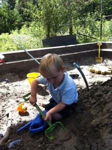 charlie in the sandpit