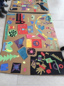 Charlie's piece on the children's collage