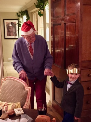 Charlie with Grandpa Christmas 2014