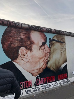 'The Kiss' on the Berlin Wall at the East Side Gallery in Berlin
