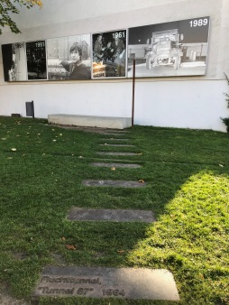 Steps marking out an escape tunnel at Bernauer Str.
